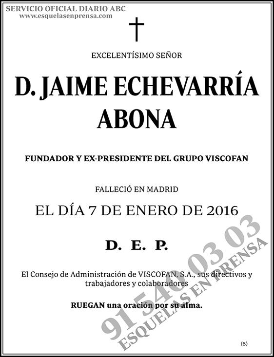 Jaime Echevarría Abona